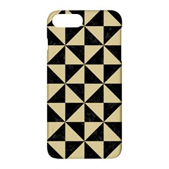 Triangle1 Black Marble & Light Sand Apple Iphone 7 Plus Hardshell Case by trendistuff