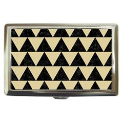 Triangle2 Black Marble & Light Sand Cigarette Money Cases by trendistuff