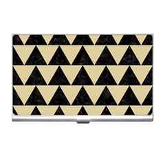 Triangle2 Black Marble & Light Sand Business Card Holders by trendistuff
