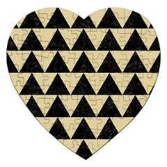 Triangle2 Black Marble & Light Sand Jigsaw Puzzle (heart) by trendistuff