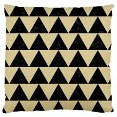 Triangle2 Black Marble & Light Sand Large Cushion Case (two Sides) by trendistuff