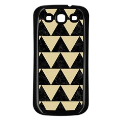 Triangle2 Black Marble & Light Sand Samsung Galaxy S3 Back Case (black) by trendistuff