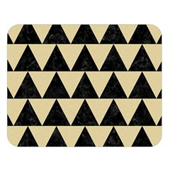 Triangle2 Black Marble & Light Sand Double Sided Flano Blanket (large)  by trendistuff