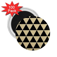 Triangle3 Black Marble & Light Sand 2 25  Magnets (100 Pack)  by trendistuff