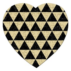 Triangle3 Black Marble & Light Sand Jigsaw Puzzle (heart) by trendistuff