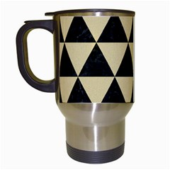 Triangle3 Black Marble & Light Sand Travel Mugs (white) by trendistuff