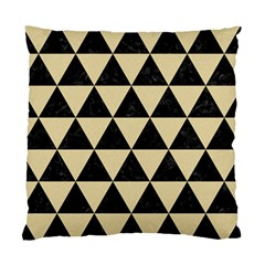 Triangle3 Black Marble & Light Sand Standard Cushion Case (two Sides) by trendistuff