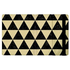Triangle3 Black Marble & Light Sand Apple Ipad 3/4 Flip Case by trendistuff