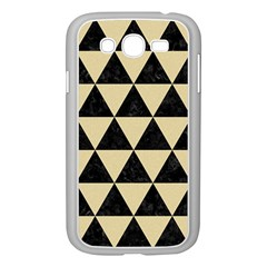 Triangle3 Black Marble & Light Sand Samsung Galaxy Grand Duos I9082 Case (white) by trendistuff