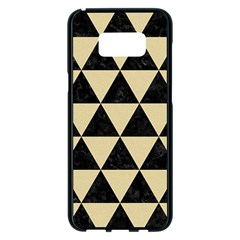 Triangle3 Black Marble & Light Sand Samsung Galaxy S8 Plus Black Seamless Case by trendistuff
