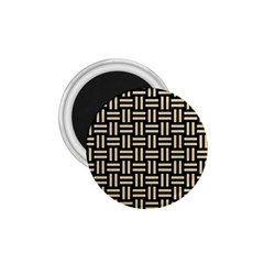 Woven1 Black Marble & Light Sand 1 75  Magnets by trendistuff