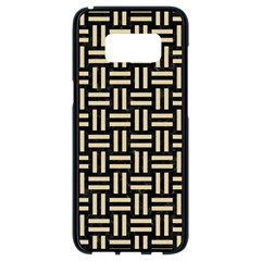 Woven1 Black Marble & Light Sand Samsung Galaxy S8 Black Seamless Case by trendistuff