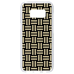 Woven1 Black Marble & Light Sand Samsung Galaxy S8 White Seamless Case by trendistuff
