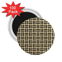 Woven1 Black Marble & Light Sand (r) 2 25  Magnets (100 Pack)  by trendistuff