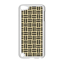 Woven1 Black Marble & Light Sand (r) Apple Ipod Touch 5 Case (white) by trendistuff