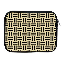Woven1 Black Marble & Light Sand (r) Apple Ipad 2/3/4 Zipper Cases by trendistuff