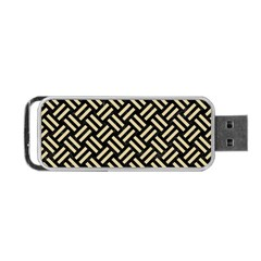 Woven2 Black Marble & Light Sand Portable Usb Flash (two Sides) by trendistuff