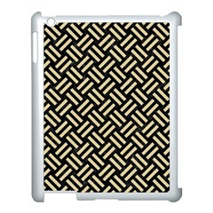 Woven2 Black Marble & Light Sand Apple Ipad 3/4 Case (white) by trendistuff