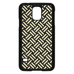 Woven2 Black Marble & Light Sand Samsung Galaxy S5 Case (black) by trendistuff