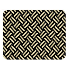 Woven2 Black Marble & Light Sand Double Sided Flano Blanket (large)  by trendistuff