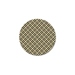 Woven2 Black Marble & Light Sand (r) Golf Ball Marker (10 Pack)
