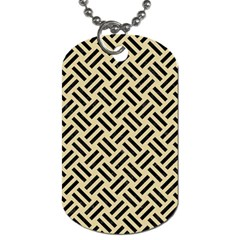 Woven2 Black Marble & Light Sand (r) Dog Tag (two Sides) by trendistuff