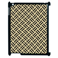Woven2 Black Marble & Light Sand (r) Apple Ipad 2 Case (black) by trendistuff