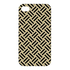 Woven2 Black Marble & Light Sand (r) Apple Iphone 4/4s Premium Hardshell Case by trendistuff