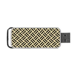 Woven2 Black Marble & Light Sand (r) Portable Usb Flash (two Sides) by trendistuff