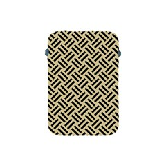 Woven2 Black Marble & Light Sand (r) Apple Ipad Mini Protective Soft Cases by trendistuff