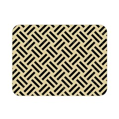 Woven2 Black Marble & Light Sand (r) Double Sided Flano Blanket (mini)  by trendistuff