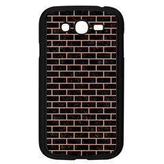 Brick1 Black Marble & Natural Red Birch Wood Samsung Galaxy Grand Duos I9082 Case (black) by trendistuff