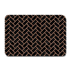 Brick2 Black Marble & Natural Red Birch Wood Plate Mats by trendistuff