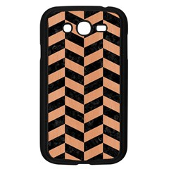 Chevron1 Black Marble & Natural Red Birch Wood Samsung Galaxy Grand Duos I9082 Case (black) by trendistuff