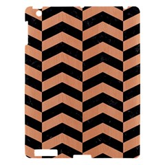 Chevron2 Black Marble & Natural Red Birch Wood Apple Ipad 3/4 Hardshell Case by trendistuff