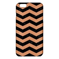 Chevron3 Black Marble & Natural Red Birch Wood Iphone 6 Plus/6s Plus Tpu Case by trendistuff