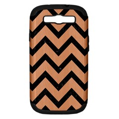Chevron9 Black Marble & Natural Red Birch Wood (r) Samsung Galaxy S Iii Hardshell Case (pc+silicone) by trendistuff