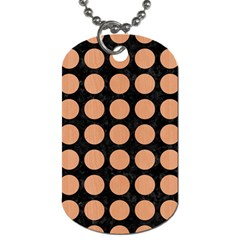 Circles1 Black Marble & Natural Red Birch Wood Dog Tag (two Sides) by trendistuff