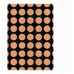 Circles1 Black Marble & Natural Red Birch Wood Small Garden Flag (two Sides) by trendistuff