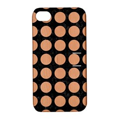 Circles1 Black Marble & Natural Red Birch Wood Apple Iphone 4/4s Hardshell Case With Stand by trendistuff