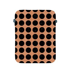 Circles1 Black Marble & Natural Red Birch Wood (r) Apple Ipad 2/3/4 Protective Soft Cases by trendistuff