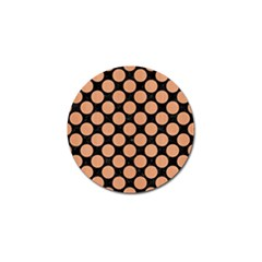 Circles2 Black Marble & Natural Red Birch Wood Golf Ball Marker (4 Pack) by trendistuff