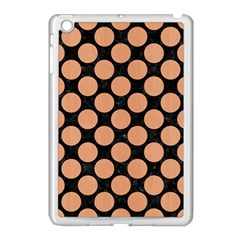 Circles2 Black Marble & Natural Red Birch Wood Apple Ipad Mini Case (white) by trendistuff