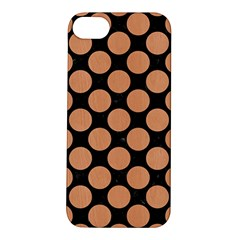 Circles2 Black Marble & Natural Red Birch Wood Apple Iphone 5s/ Se Hardshell Case by trendistuff
