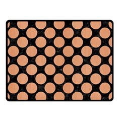 Circles2 Black Marble & Natural Red Birch Wood Double Sided Fleece Blanket (small)  by trendistuff