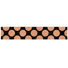 Circles2 Black Marble & Natural Red Birch Wood Flano Scarf (large) by trendistuff