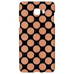 Circles2 Black Marble & Natural Red Birch Wood Samsung C9 Pro Hardshell Case  by trendistuff