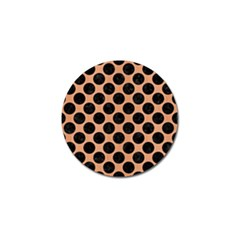 Circles2 Black Marble & Natural Red Birch Wood (r) Golf Ball Marker (10 Pack) by trendistuff