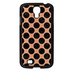 Circles2 Black Marble & Natural Red Birch Wood (r) Samsung Galaxy S4 I9500/ I9505 Case (black) by trendistuff