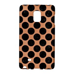 Circles2 Black Marble & Natural Red Birch Wood (r) Galaxy Note Edge by trendistuff